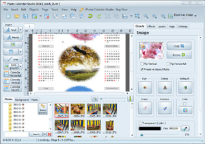 Photo Calendar Studio can easily and quickly calendar your photos