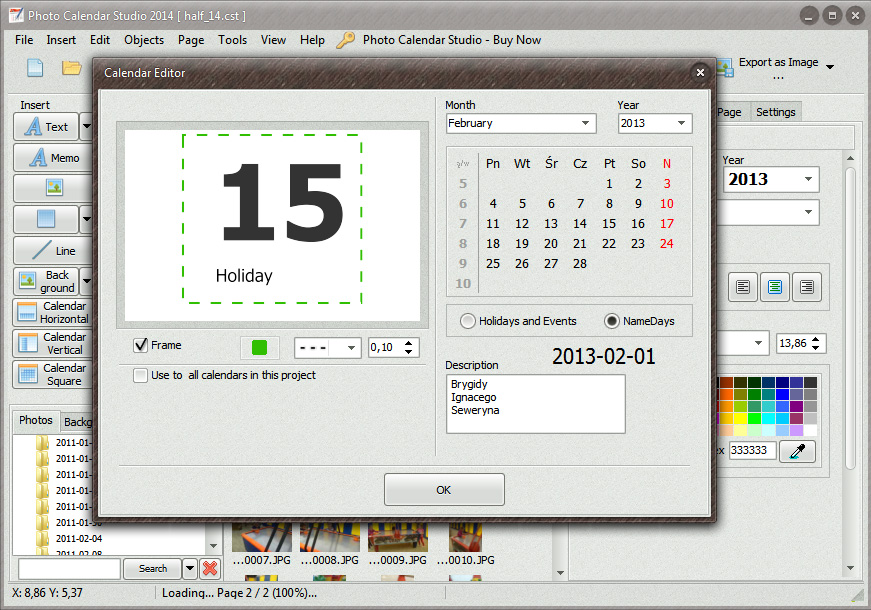 Make Calendar With Photo Calendar Studio Software Photo Calendar Is